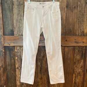 Levi's 6M White 505 Straight Leg Embroidered Jeans